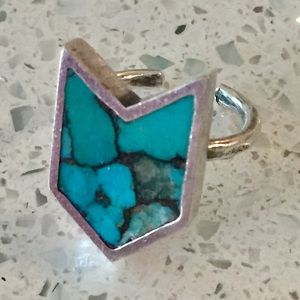 Sterling silver turquoise Arrow ring 925